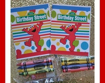 personalized sesame street elmo birthday coloring book free shipping - Elmo Coloring Book