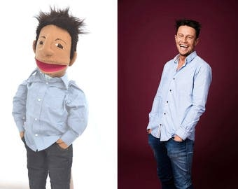 Custom puppet Likeness puppet Bespoke Puppet Look alike puppet hand puppet based on anyone you like!
