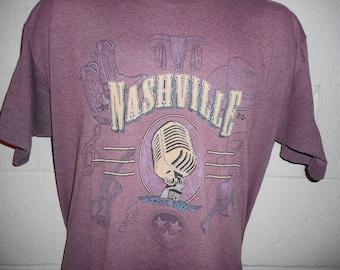 Vintage Nashville Tennessee Music City T-Shirt XL
