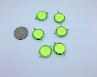 Acrylic green connectors