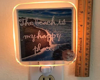 Beach Is My Happy Place Night Light