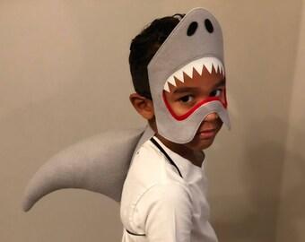 Shark costume, shark mask, shark fin, shark cosplay, ocean creature, Jonah and the whale, jaws costume, sea creature costume