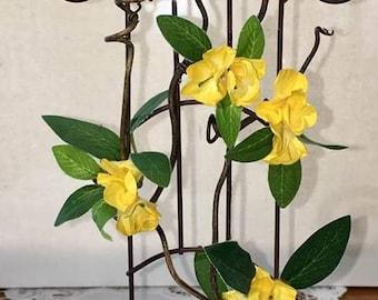 12 Inch Miniature Vine Covered Trellis, Fairy Garden Accessory, Indoor Outdoor Garden Accessory
