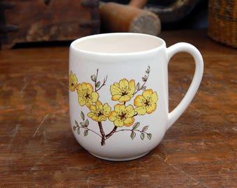 Vintage Carltonware Cup/Mug Mimosa Pattern - Mid Century