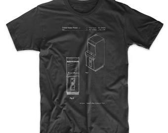 Arcade Game Cabinet Front Figure Patent Shirt, Game T Shirt, Gamer Gift, Arcade Machine, PP0357