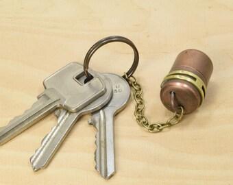 Low Profile Keychain Steampunk USB Drive - Micro Copper Barrel - 8GB / 16GB / 32GB / 64GB