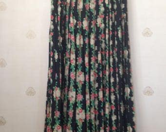 Carole Little for St. Tropez West Rayon Pleated Floral Skirt
