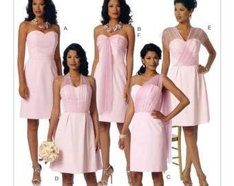 6131, Butterick, Misses' Sweetheart-Neckline, Dress and Sash, Formal, Prom, Evening Gown, Bridesmaid Dress, Wedding Dress, Maxi Dress, Train