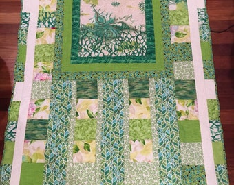Green Glory Quilted Blanket