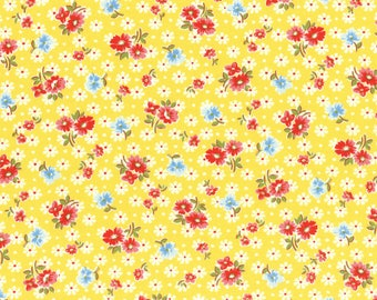 Lecien Old New 30's 2017 Japanese Fruit & Flowers Pattern 31524 50 Yellow