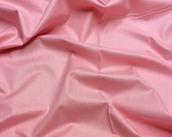 Coral Pink 049 Painters Palette Superior Schreiner Finish Solids by Ebor Fabrics Plain Patchwork Quilting Fabric