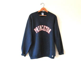 Vintage 1990s PRINCETON UNIVERSITY New Jersey Russell Athletics Sweatshirt Sz XL