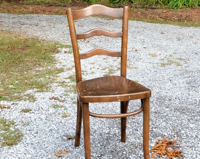 Vintage Bentwood Chair Cafe Bistro Chair Desk Chair Ladderback Country Style Furniture PanchosPorch