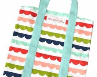 The Good Life Scallop Tote Bag