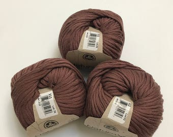 Natura XL Bulky Cotton Yarn in Clay // 3 Skein Pack // Stash Sale