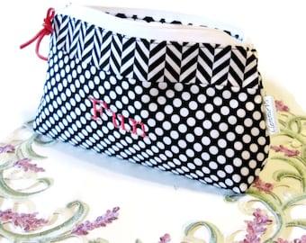 Cosmetic Bag, Makeup Bag, Zipper Bag, Gadget Bag, Travel Bag, Accessory Bag, Toiletry Bag, Gift For Her