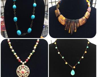 VINTAGE statement necklaces
