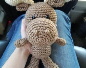 Handmade Crochet Moose