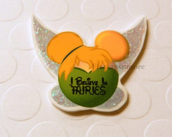 Fairy Pin Handcrafted Mouse Head Ears With A Bit Of Glitz I Believe In Fairies Brooch Flair Lapel Pin Tie Tack Hat Pin