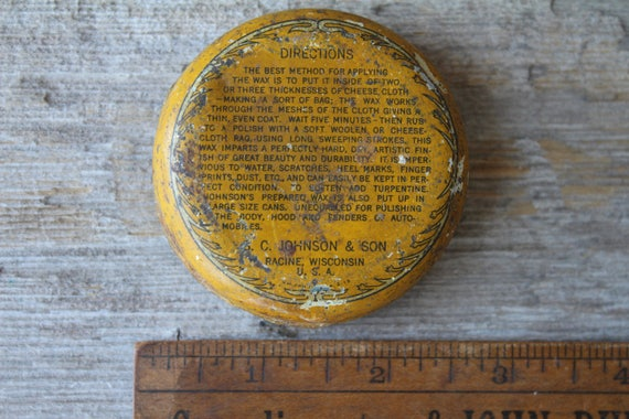 Rare Antique Johnsonu0027s Furniture Wax Tin   S. C. Johnson And Son Racine,  Wisconsin