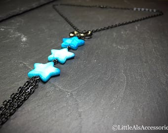 Star Tassel Necklace, Star Jewelry, Star Necklace, Mystical Jewelry, Shell Star Necklace, Shell Jewelry, Celestial Jewelry, Tassel Necklace