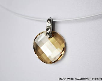 SWAROVSKI Crystal honey twist pendant / silver plated