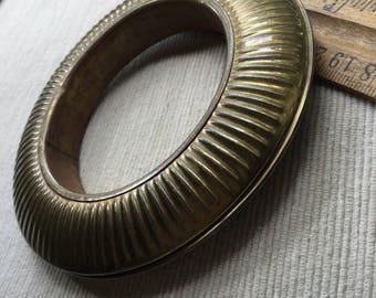 Chunky Vintage Brass Metal Bangle Accessory Boho Jewelry