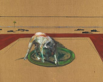 FRANCIS BACON - 'Study of a dog' - original archival quality print - large (Curwen Press, London)