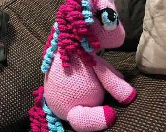 Crochet Unicorn Pony Stuffie amigirumi