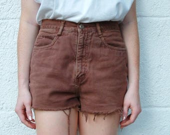Bill Blass Vintage Brown Denim High Waisted Shorts - S