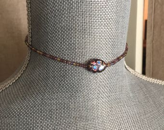 Glass beaded choker