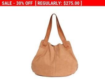 Handmade leather bags. Light Brown leather bag- Soft leather bag - Tote bag- Carolina bag