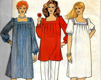 Butterick 4233               Misses Maternity Dress and Tunic       Size 6          Uncut