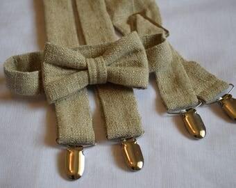 Kids -Tweed Linen Bow tie