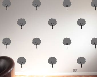 Gray Wall Decals. Seasonal Decor. Tree Decals. Forest Decal. Wall Decal. Seasonal Decals. Home decor decals. Nature Decor.
