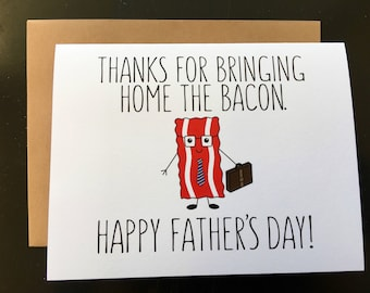 Father's Day Bacon/Crossfit/Paleo/ketogenic Card