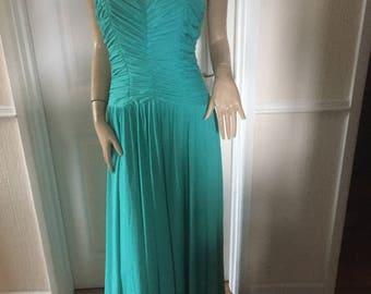 John Charles Stunning Emerald  Slinky Evening Gown  sz 12