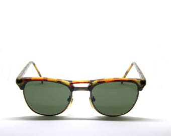 SUNMATE acetate and metal details New Vintage sunglasses