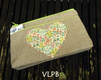 Trousse maquillage lin liberty Silver Be
