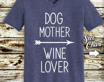 Dog Mother Wine Lover -  Unisex Tri Blend T-shirt