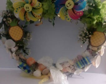 Sea shell summer wreath