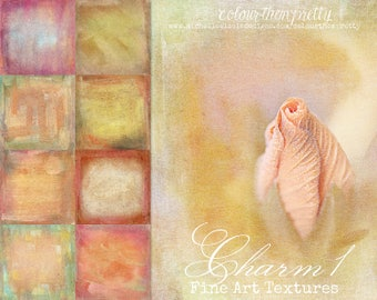50% OFF! Charm 1 {Fine Art Textures} Texture Overlays and Backgrounds