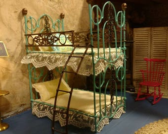 Dollhouse Victorian Metal Bunk beds