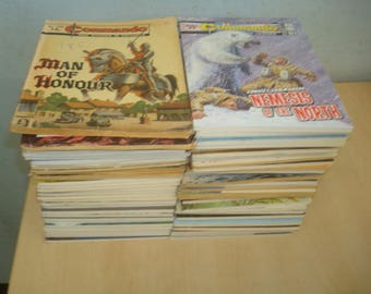 Set of 80 Commando Picture Library comics
