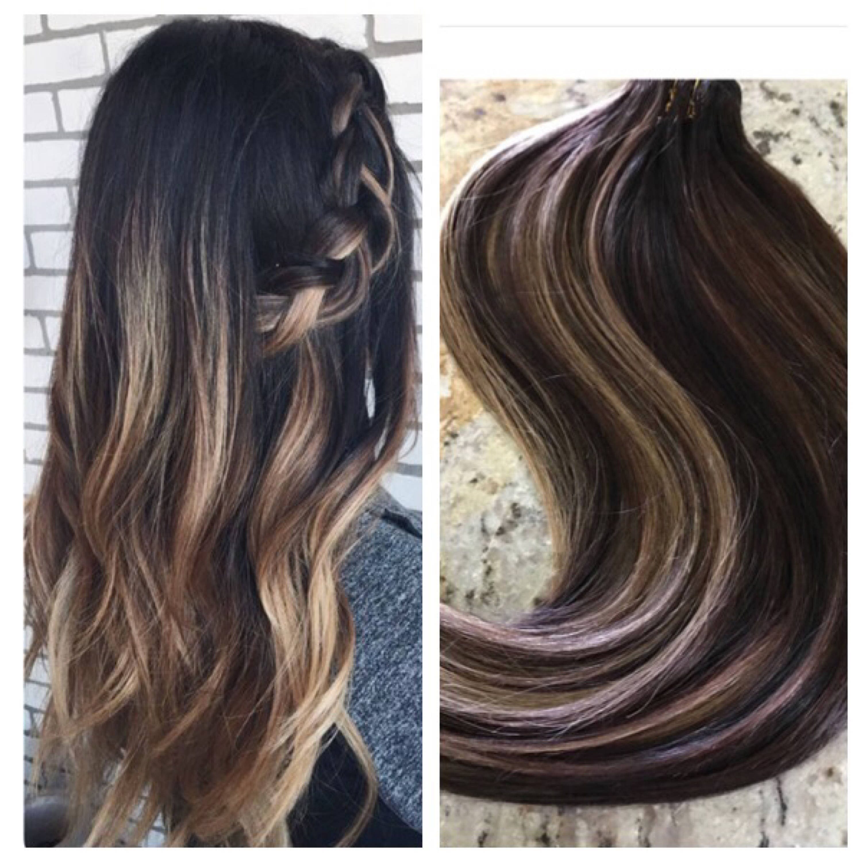5 star ombre cuticle european remy human hair double wefted 5 star ombre balayage cuticle remy human hair sew in machine weft hair extensions 1 bundle pmusecretfo Gallery