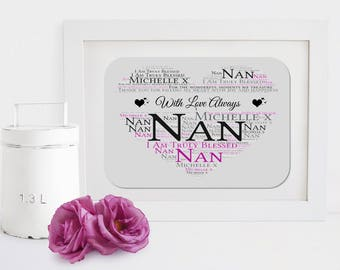Personalised Grandmother Framed Word Art