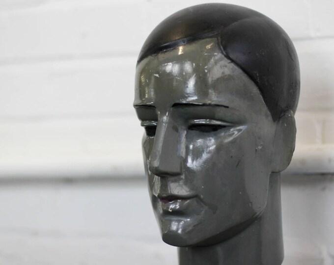 Art Deco Shop Mannequin Head Circa 1920s