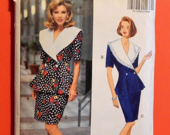 Vintage 1990's top and skirt pattern Butterick 5899 Fast & Easy separates pattern Sizes 12, 14 and 16