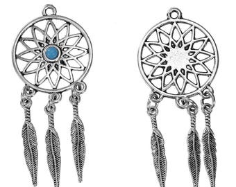 Dream catcher Pendant 1 X and 60mm turquoise cabochon