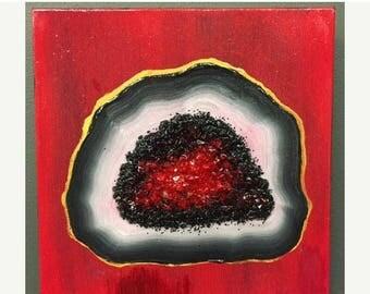 SALE Tabasco Geode III - painting on canvas